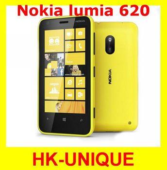 Original Unlocked Nokia Lumia 620 Dual core 5MP camera WIFI 3.8 Inch GPS Windows OS 8GB storage  in stock free shipping