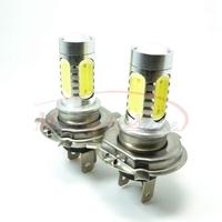 H4 High Power 11W Lens LED DC 10-24v CREE XP-E  White HeadLight LED Bulb Fog Lamp Daytime Running Light Free Shipping 2pcs/lot
