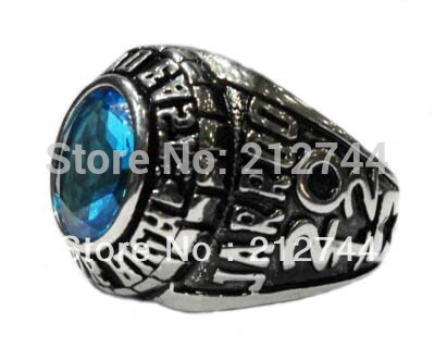 Semi precious Stone Rings Stainless Steel Jewelry Custom Rings Gothic Punk Ring Military Ring 2012 Ring face width:20mm(China (Mainland))