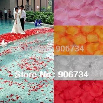 6 Colors  For Choose Vintage 1000pc/Set Beautiful Wedding Petals Silk Flowers Silk Rose Decoration for Wedding