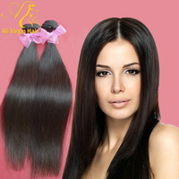 "Queen Hair Products High Quality Hair 5A  Virgin Brazilian Weft Hair 2pcs/lot Unprocessed Straight Hair 10""-26"" Free Shipping"