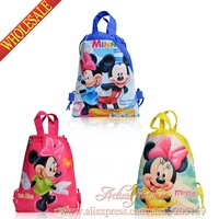 4Pcs Princess Children Cartoon Drawstring Backpack Kids School Bags Handbags,34X27CM,Non-woven
