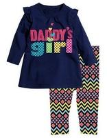 Girl's Stylish Long Sleeve T-shirt Sets Children's 2pcs Clothing Suit, 5 Sizes (2T-6T)/lot - CMLS33/CMLS34/CMLS37/CMLS39/CMLS40