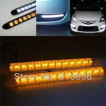 Flexible Led Light Car : 2x 12 LED Flexible light strip with turning yellow amber light auto ...