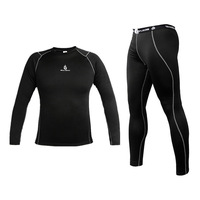 WOLFBIKE Mens Thermal underwear long johns Compression Base Layer Sport Cycling Bicycle bike Under Wear Long Sleeve Shirt Pants