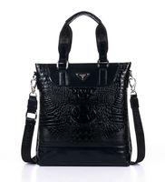 2013 high fashion Genuine Leather smile face handbag men's bag Fashion Business bag Danjue banch D8721-2