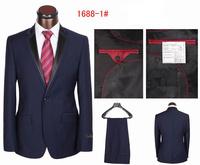 Free shipping 2014 new style fashion men's business suits men fashion slim fit suits for men two pieces coat+pants S-4XL