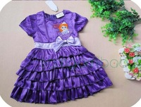1 pcs/lot 2013 new girls princess dresses cartoon dress Snow White cake dress girls dress with short sleeves dress