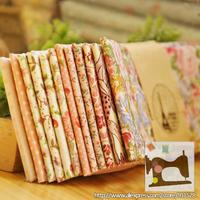 "Drop Shipping! fcz011 12 Design Sweet Pink Series Cotton Quilting Fabric Sets 'Flower's Romance'  - 45x50cm/ 17.7""x19.7"""