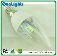 Top quality E14 2835 SMD led candle light AC110V 220V 240V 360 degree bulb lamp CE UL