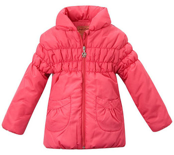 OK Freeshipping Autumn winter Red Children Child girl Kids baby coat long jacket outwear top baby clothing PDDS13P28