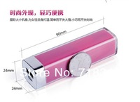 Free shipping 2600mAh Power Bank Flashlight External Portable Battery Charger For iPhone/ Smart Cell Phone