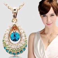FREE SHIPPING!retail genuine 4GB/8GB/16GB/32GB  angel tears jewelry metal diamond necklace shape usb flash drive