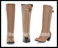 Free shipping Big 2013 over-the-knee 25pt repair high-leg boots stretch fabric boots with balck.brown.beige in size4.5-13