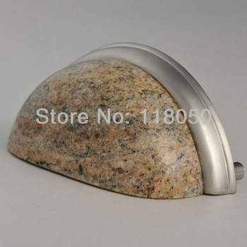 3 inch Kashmir Gold Granite Cup Handle,Stone Cabinet Pulls Cupboard Handles,Creative Kitchen Furniture Hardware,Novelty Items