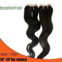 "Virgin Remy Brazilian Hair Human hair Extension Body Wave hairpiece Trendy Long hair 16'' -24"""