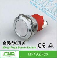 Factory Wholesale Price  Export CMP 19mm stainless steel metal waterproof anti vandal push button switch  sealed waterproof IP68