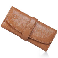 New style 100% GENUINE LEATHER Wallet for woman, clutch purse, Promotion Gifts
