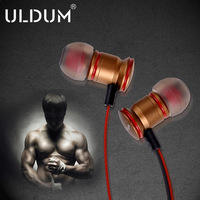 ULDUM man high-quality bass metal noodles in ear earphones  notebook mp3 earphones