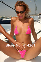 New 2014 VS Sexy Mini Micro Perspective Lace Invisible Belt Bikini Swimsuit Set Underwear Bra + Underpants Thong G-string Briefs
