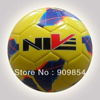 Free shipping Hot sales  TPU soccer ball/football. yellow color. 420g/pc.Free with 1pc hand pump+net+needle