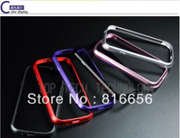Free Shipping 1 piece/lot Deluxe Aluminum Metal Bumper Case For Samsung Galaxy S3 i9300 With Retail Box