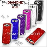 Bling Crystal promise diamond never drop off, for Mobile Cell Phone I9300 Galaxy S3 SIII + Stylus free shipping