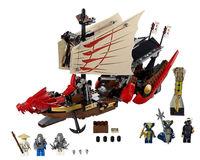 Free Shipping+680pcs ninja toys, Bela Ninjago Building Blocks +Hight quality Large Dragon Boat(+6ninjas)