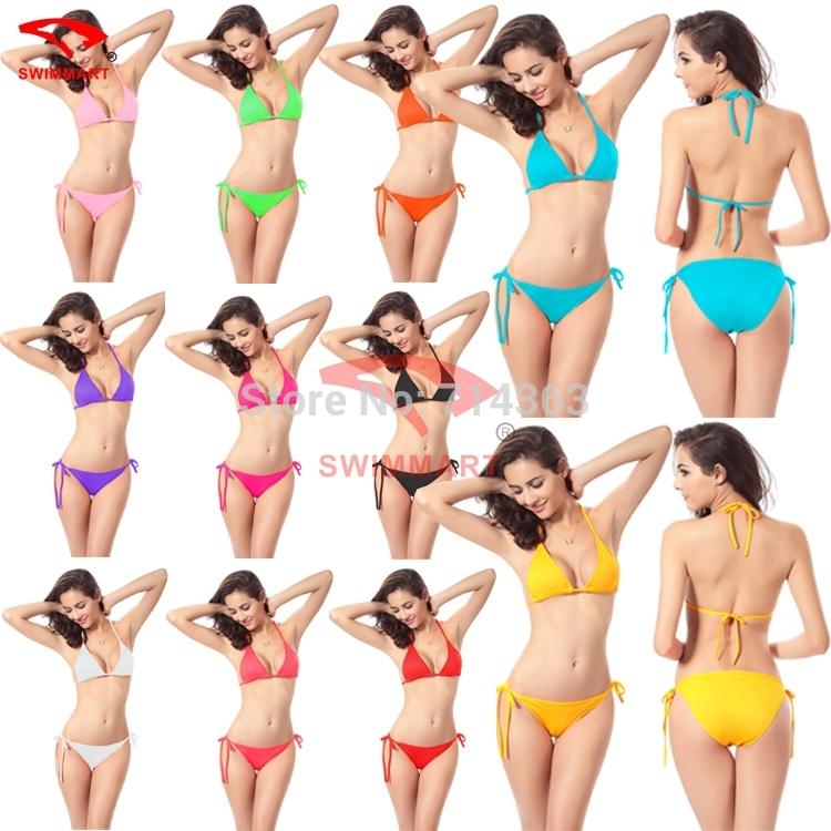 New 2014 Sexy Bikini Hot Sale Swimwear Bikinis Set Swimsuit Beach Bikini Dress sexy beachwear (Lingerie Bra + T-back Sets)(China (Mainland))