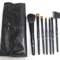 Drop Shipping Makeup Brushes 7 PCS Makeup Brushes Set Kit With Black Bag Case Mc Makeup