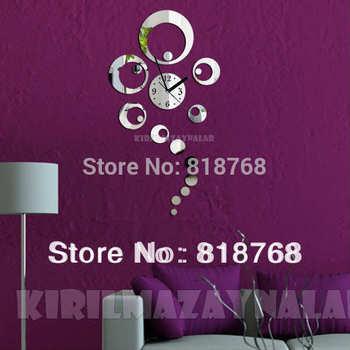 Min order 15 usd ( Mix items )Creative DIY Acrylic Wall Clock  40X70cm big clock