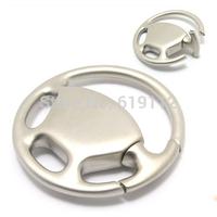 Zinc Alloy key chains Round key ring Car steering wheel keychain Diameter 4.4CM OEM!Wholesale Free shipping
