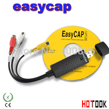 Promotion Price New USB 2.0 Easycap dc60 tv dvd vhs video Capture adapter Easy cap card Audio AV mmm for vista win8 win7 XP Fast