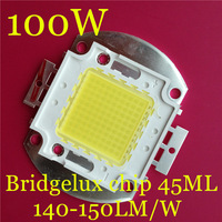 10pcs/lot 100W 45mil Bridgelux chip 140~150lm/W high power led Integrated light source Floodlight light source free shipping!