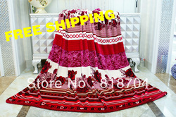 2013 free shipping new pattern Fashion Blanket1400G Coral fleece fannel Printed WarmSoftwedding gift Beddingsheet knitted fabric(China (Mainland))