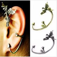 Ladies Fashion Gothic Dragon Ear Cuff No Pierced Vintage Clip Punk Earring 24pcs/lot