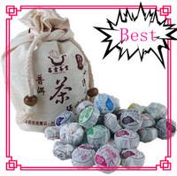 Free Shipping (20 PCS/bag) Pu er tea, Chinese Pu'er ,Mini Yunnan puerh , with Gift bag,Inviting aroma!