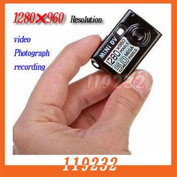 Free shipping Worlds Smallest HD Digital Video Camera Mini DV DVR SMC001 1280*960P