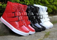 2013 new dance shoes men hip hop shoes Hot sale men's sneakers Black/Red/White Free shipping
