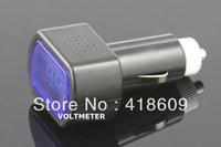 2 x Volt Meter 12V 24V LED Digital Voltmeter with Car cigarette lighter socket Car Truck Battery Voltage Gauge Indicator