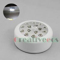 White Automatic PIR 15LEDs Infrared Sensitive Motion Detector Wireless Sensor LED Light Lamp for Roof Door Garage Cigar Box