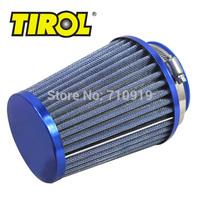 T11649b TIROL Round Tapered Mini Power Stack Air Intake/ Air Filter Diameter 76mm Blue