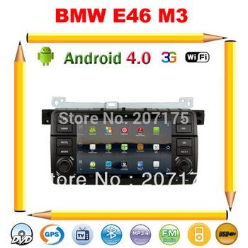 Android 4.0 Car DVD GPS for BMW E46 M3 3 Series, Free Wifi, optional (DVB-T, 3G), Radio, IPOD, BT, USB/SD+Free 4G map card !!!