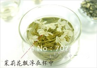 Promotion! Organic Jasmine Flower Tea, Green Tea 100g 2013 year The health care Refreshing fragrance tea + Gift + Free shipping