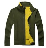 2014 new Genuine Men Fleece jacket Sportswear Autumn and winter Cardigan Sweater Jackets Fleece Chong windbreaker  Free shipping