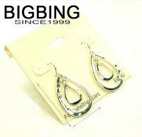 BigBing jewelry Fashion jewelry  fashion silver Alloy drop dangle earrings  free shipping W007