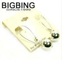 BigBing jewelry Fashion jewelry  fashion silver earrings free shipping W028