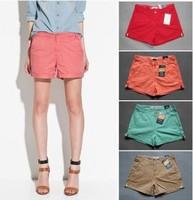 2014 New ZA Fashion Ladies' Elegant Harem Shorts Candy Color Women's Casual Shorts
