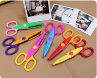 Free shipping  DIY Craft Scissors Creative scissors High quality Decorative Wave lace Edge Craft Scissors, 10pcs/lot