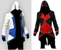 Assassins Creed 3 III Conner Kenway Hoodie Coat Jacket Cosplay Costume PU/FAUX Free Shipping